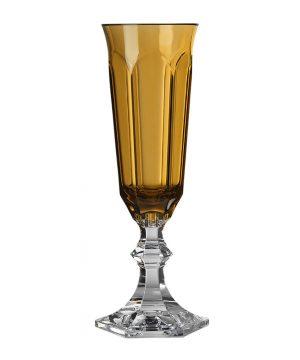 Mario Luca Giusti - Dolce Vita Acrylic Champagne Flute - Amber