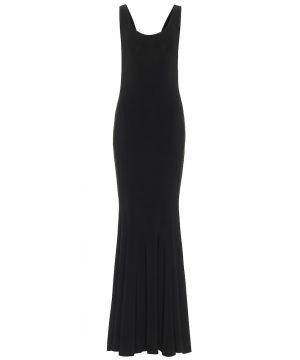 Marissa stretch-jersey fishtail gown