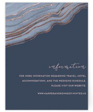 Modern Agate Foil-Pressed Direction Cards