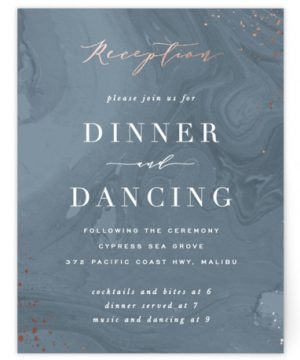 Moody Marbling Foil-Pressed Reception Cards