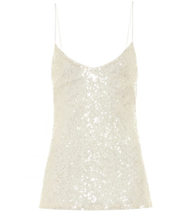 Moonlight sequined bridal camisole
