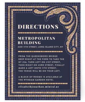 Mosaic Directions Cards