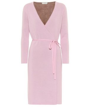 Mylene stretch-wool wrap dress