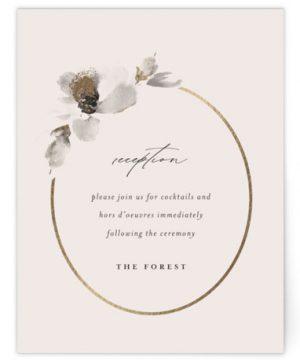 Ophelia Foil-Pressed Reception Cards