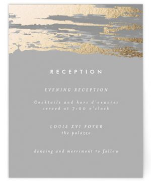 Organic Foil-Pressed Reception Cards