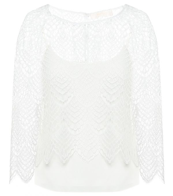 Ornato rebrodé-lace bridal blouse