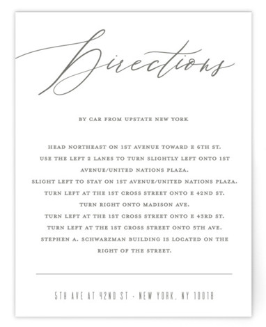 Our Love Directions Cards