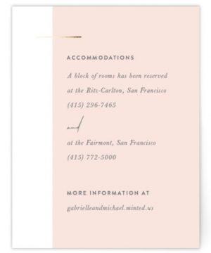 Overlap Foil-Pressed Direction Cards