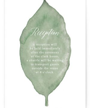 Painted Leaf Reception Cards