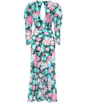 Paloma floral silk maxi dress