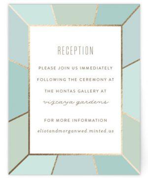 Pavilion Foil-Pressed Reception Cards