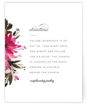 Peeking Florals Directions Cards