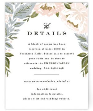 Peony Floral Frame Directions Cards