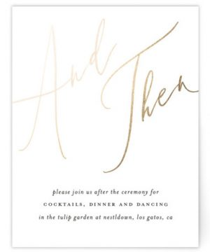 Photo Vows Foil-Pressed Reception Cards