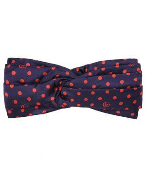 Polka-dot silk-twill headband