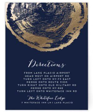 Ponderosa Foil-Pressed Direction Cards