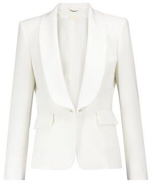Porta satin bridal blazer