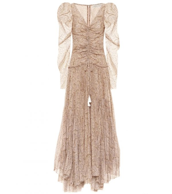 Printed cotton-blend maxi dress