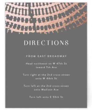 Prism Foil-Pressed Direction Cards