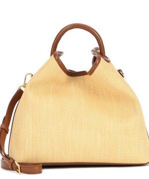 Raisin raffia shoulder bag