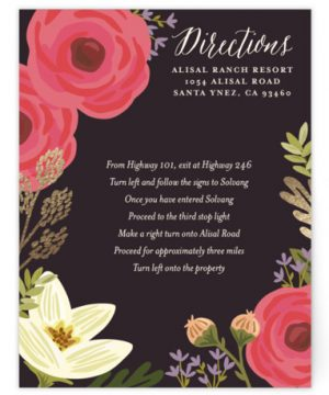 Rhapsody Foil-Pressed Direction Cards