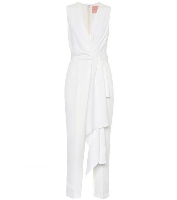 Rokuro bridal silk-blend jumpsuit
