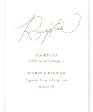 Romance Letterpress Reception Cards