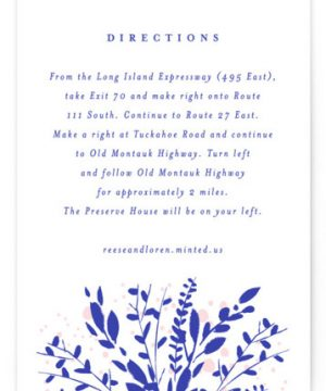 Romantics Letterpress Directions Cards