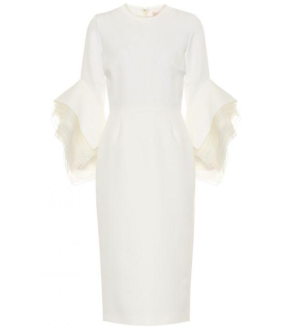 Ronda crêpe bridal midi dress