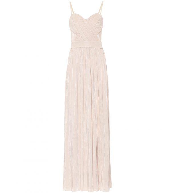 Rory plissé bustier gown
