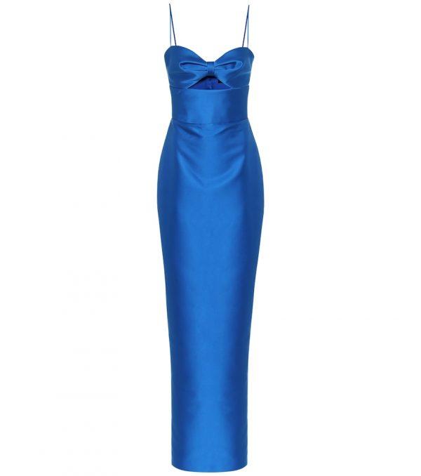 Satin bustier gown