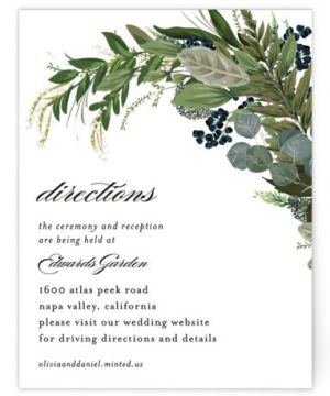 Side Swept Directions Cards