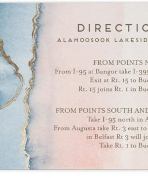 Simple Agate Foil-Pressed Direction Cards