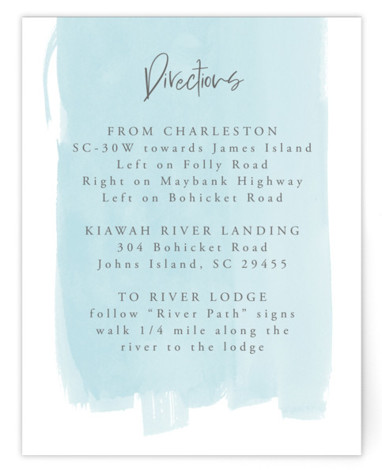 So Delightful Directions Cards
