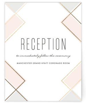 Soft Glass Foil-Pressed Reception Cards