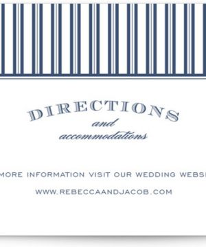 Soiree Letterpress Directions Cards