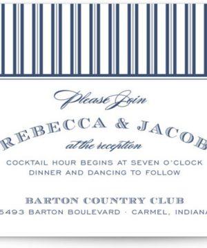 Soiree Letterpress Reception Cards