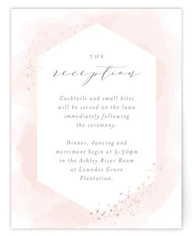 Sparkling Champagne Foil-Pressed Reception Cards