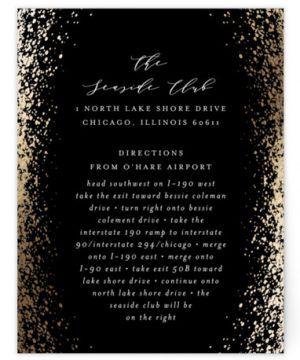 Sprinkling Foil-Pressed Direction Cards