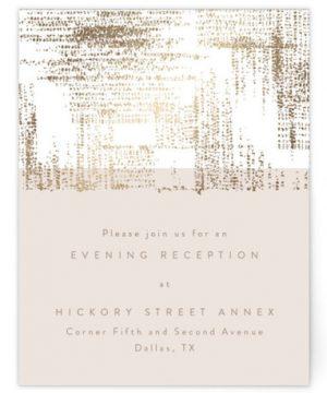 Stippels Foil-Pressed Reception Cards