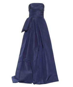 Strapless silk-faille gown