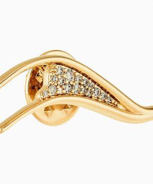 Swarovski Gilded Treasures Brooch, White, Gold-tone plated