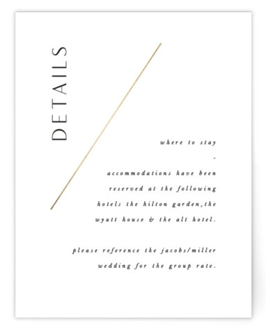 The Bias Foil-Pressed Direction Cards