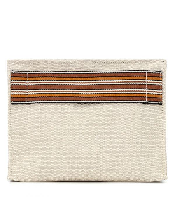 The Suitcase Stripe canvas pouch