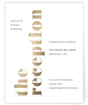 The Wedding Foil-Pressed Reception Cards