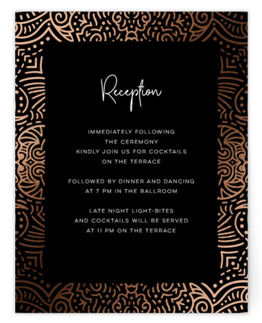 Tribal Foil-Pressed Reception Cards