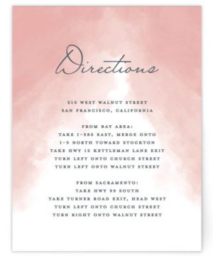 Veil Sweet Directions Cards