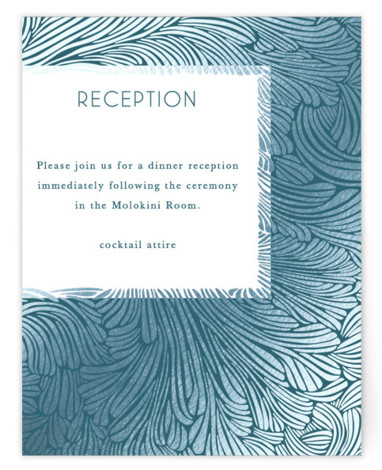 Wailea Waves Foil-Pressed Reception Cards