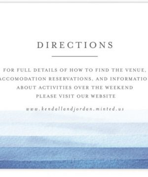 Watercolour Stripe Directions Cards