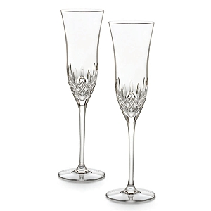 Waterford Lismore Essence Boxed Champagne Flutes, Set of 2